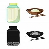 Isolated Object Of Crop And Ecological Icon. Collection Of Crop And Cooking Vector Icon For Stock. poster