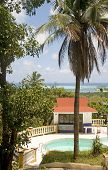 Caribbean Sea View San Andres Island Colombia South America Swimming Pool Cabana