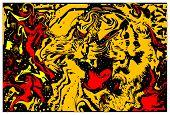 Tiger Background. Abstract Tiger. Flat Design. Vector Illustration. poster