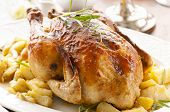Chicken with potato roasted