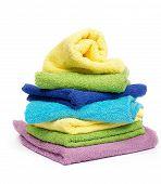 Постер, плакат: Разноцветные полотенца