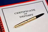 Deposit Certificate In The Folder-a Security Certifies The Right To Receive The Deposit Amount And I poster
