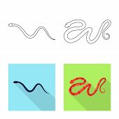 Vector Illustration Of Mammal And Danger Icon. Set Of Mammal And Medicine Stock Symbol For Web. poster