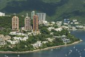 Idyllic Landscape Of Hong Kong. Aerial View Of Southern Part Of Hong Kong Island. poster