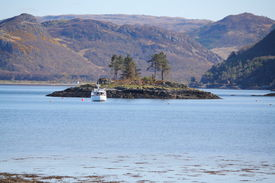picture of carron  - Loch Carron as seen from the shores of the small town of Plockton - JPG