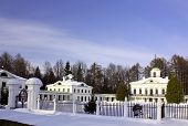 White Old Time Palace In Winter