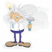 stock photo of physicist  - Genius at work - JPG