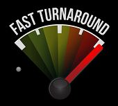 stock photo of over counter  - fast turnaround speedometer illustration design over a dark background - JPG