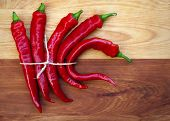 stock photo of jimmy  - Tied Red Peppers - JPG