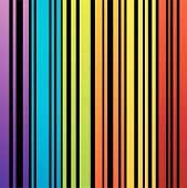 Rainbow colored bar code