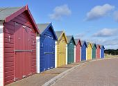 Bathing huts on british coast