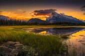 Vermilion Lakes Sunrise Near Banff