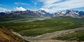 picture of denali national park  - View of Polychrome Pass in Alaska - JPG