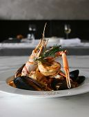 picture of italian food  - white clean italian seafood dish - JPG