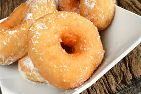 pic of graff  - sweet donut fried typical nepolitan food called graffe - JPG