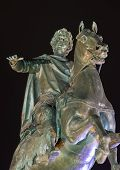 stock photo of great horse  - Monument to Peter the Great in St - JPG