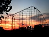 Rollercoaster By Sunset