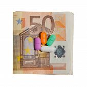 Euro Currency and Pills
