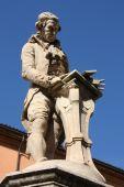 stock photo of luigi  - Luigi Galvani statue in Bologna Italy - JPG