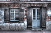 stock photo of creole  - an old house in the French quarter of New Orleans - JPG