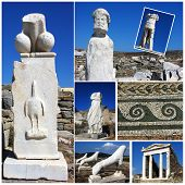 picture of phallus  - The best of Delos architecture details merged in one photo collage - JPG
