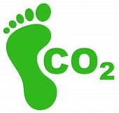 stock photo of carbon-footprint  - Illustration of an ecological footprint concept  - JPG