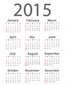 picture of august calendar  - Simple 2015 year vector calendar on white - JPG