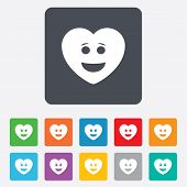 image of lol  - Smile heart face sign icon - JPG