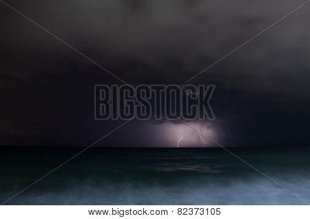 Night Storm Sea