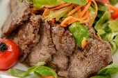 pic of veal  - Warm salad with veal and mix of salads - JPG