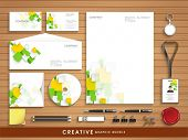 picture of letterhead  - Professional corporate identity set with colorful abstract wave effect for your business includes CD Cover - JPG