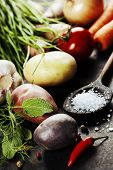 stock photo of food  - Fresh vegetables  - JPG