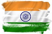 picture of indian flag  - Indian flag backdrop background texture isolated on white - JPG