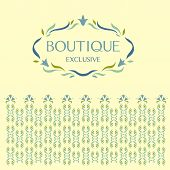 picture of boutique  - Vector logo store utensils - JPG