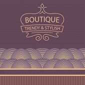 stock photo of boutique  - Vector logo for boutique clothing - JPG