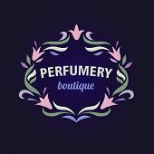 pic of boutique  - Vector logo with a vignette of flowers - JPG