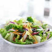 picture of grated radish  - garden salad on white table cloth - JPG