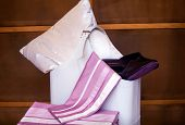 picture of night gown  - View of female slippers and bedroom accessories - JPG