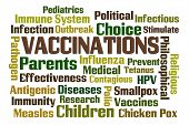 stock photo of hpv  - Vaccinations word cloud on white background - JPG