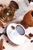 foto of hot coffee  - sweet hot drink  - JPG