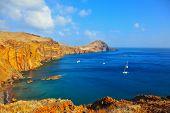 pic of atlantic ocean  -  Quiet ocean cove on the island of Madeira - JPG