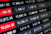 pic of stock market data  - Abstract background stock market indices - JPG