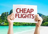 image of all-inclusive  - Cheap Flights card with a beach background - JPG