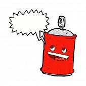 image of spray can  - cartoon spray can with speech bubble - JPG