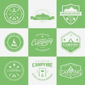 picture of emblem  - Green and white camping logo - JPG