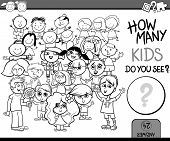 pic of perception  - Cartoon Illustration of Education Counting Game for Coloring Book - JPG