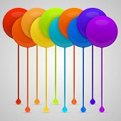 picture of dripping  - Colored paint drips - JPG