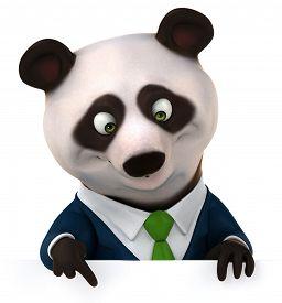 foto of panda  - Fun panda - JPG