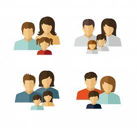 stock photo of avatar  - Family avatar icons - JPG