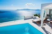 pic of greek-island  - White architecture on Santorini island Greece - JPG